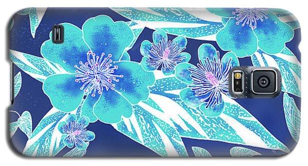 Turquoise Batik Tile 1- Camellia Galaxy S5 Case
