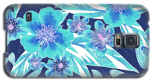 Turquoise Batik Tile 2 - Bidens Galaxy S5 Case