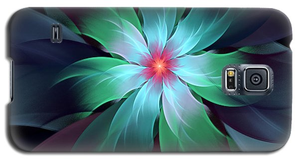 Turquoise Bloom Galaxy S5 Case