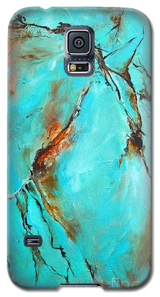 Galaxy S5 Case featuring the painting Turquoise Impression by Cher Devereaux