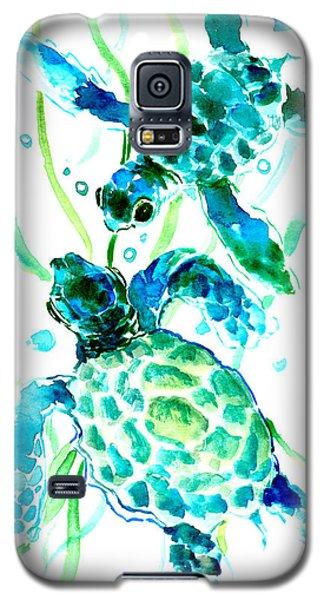 Turquoise Indigo Sea Turtles Galaxy S5 Case