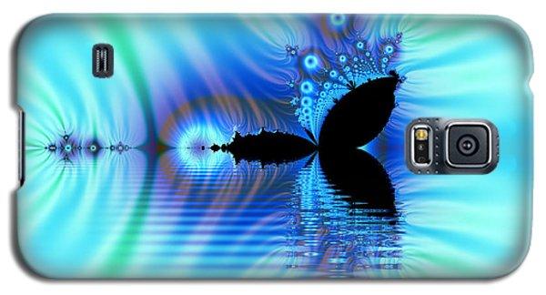 Turquoise Lake Fractal Galaxy S5 Case