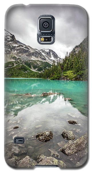 Galaxy S5 Case featuring the photograph Turquoise Lake In The Mountains by Pierre Leclerc Photography