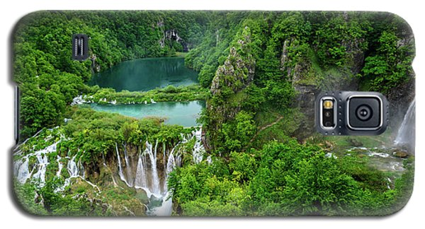 Turquoise Lakes And Waterfalls - A Dramatic View, Plitivice Lakes National Park Croatia Galaxy S5 Case