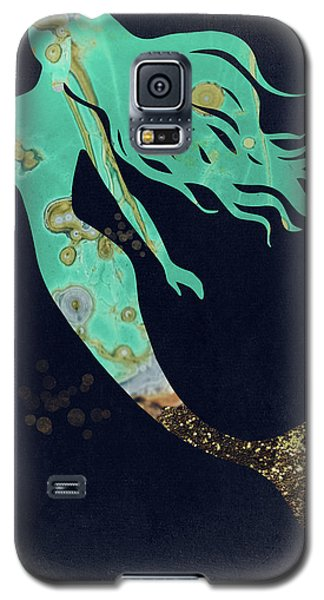 Mermaid Galaxy S5 Case - Turquoise Mermaid by Mindy Sommers