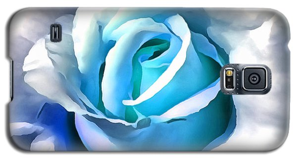 Turquoise Rose Galaxy S5 Case