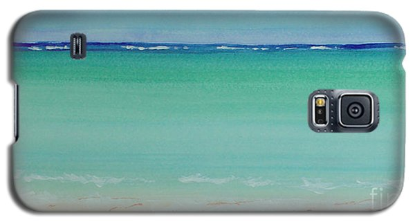 Turquoise Waters Long Abstract Galaxy S5 Case