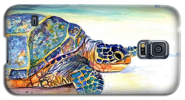 Galaxy S5 Case featuring the painting Turtle At Poipu Beach 2 by Marionette Taboniar