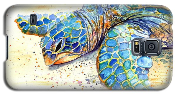 Galaxy S5 Case featuring the painting Turtle At Poipu Beach 4 by Marionette Taboniar