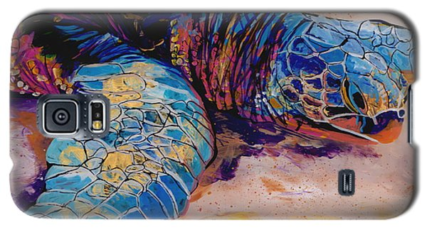 Galaxy S5 Case featuring the painting Turtle At Poipu Beach 6 by Marionette Taboniar