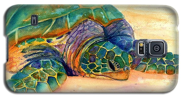 Galaxy S5 Case featuring the painting Turtle At Poipu Beach 7 by Marionette Taboniar