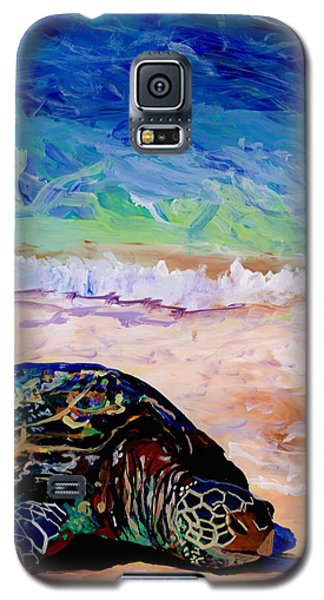 Galaxy S5 Case featuring the painting Turtle At Poipu Beach 9 by Marionette Taboniar