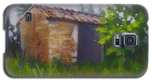 Galaxy S5 Case featuring the painting Tuscan Abandoned Farm Shed by Chris Hobel