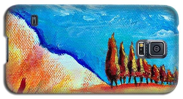 Tuscan Cypress Galaxy S5 Case by Elizabeth Fontaine-Barr