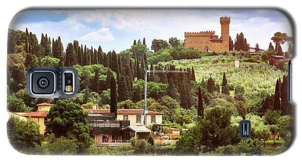 Tuscan Fields And Old Castle In Florence Galaxy S5 Case