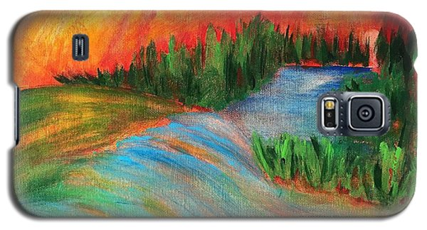 Galaxy S5 Case featuring the painting Tuscan Gold by Elizabeth Fontaine-Barr