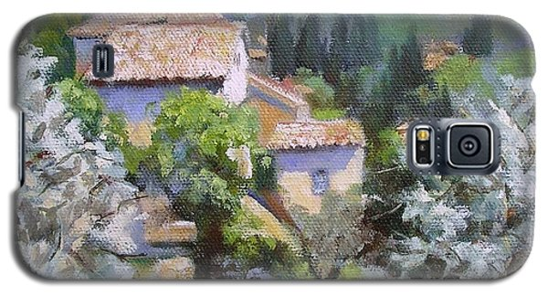 Galaxy S5 Case featuring the painting Tuscan  Hilltop Village by Chris Hobel