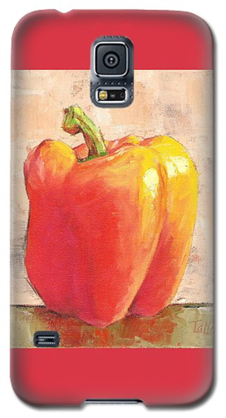 Galaxy S5 Case featuring the painting Tuscan Orange Pepper by Pam Talley