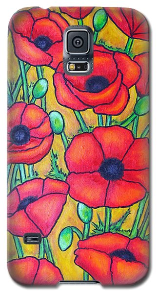 Tuscan Poppies - Crop 1 Galaxy S5 Case