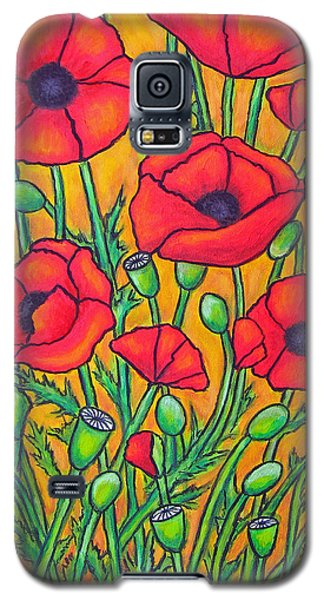 Tuscan Poppies - Crop 2 Galaxy S5 Case