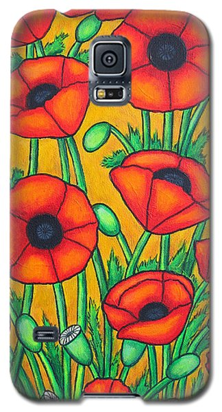 Tuscan Poppies Galaxy S5 Case