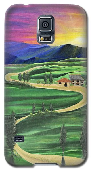 Tuscan Sunset Galaxy S5 Case