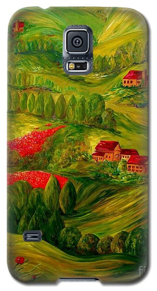 Galaxy S5 Case featuring the painting Tuscany At Dawn by Eloise Schneider