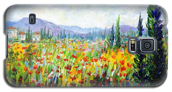 Tuscany Fields Galaxy S5 Case by Lou Ann Bagnall