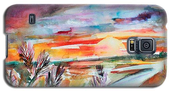 Tuscany Landscape Autumn Sunset Fields Of Rye Galaxy S5 Case