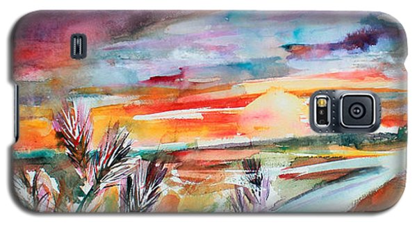 Tuscany Landscape Autumn Sunset Fields Of Rye Galaxy S5 Case