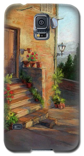 Galaxy S5 Case featuring the painting Tuscany Morning Light by Vikki Bouffard