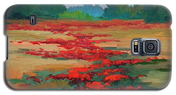 Tuscany Poppy Field Galaxy S5 Case by Diane McClary