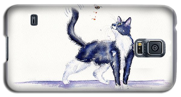 Tuxedo Cat And Bumble Bee Galaxy S5 Case