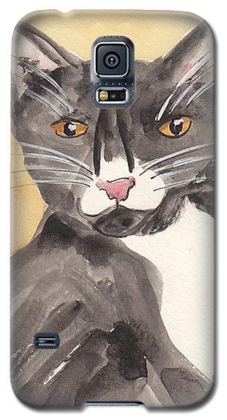 Tuxedo Cat With Attitude Galaxy S5 Case