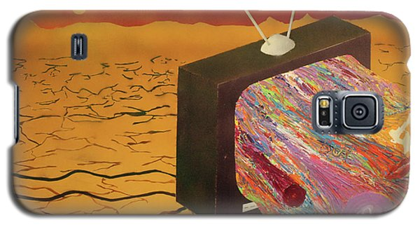 Galaxy S5 Case featuring the painting Tv Wasteland by Thomas Blood