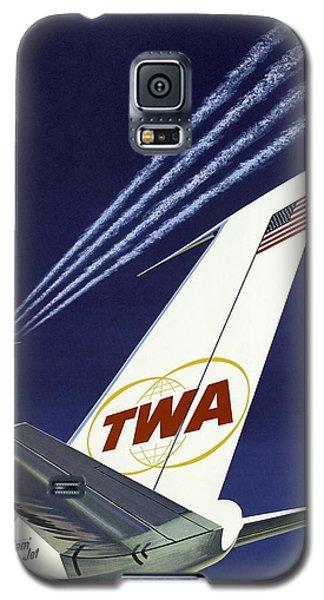 Twa Star Stream Jet - Minimalist Vintage Advertising Poster Galaxy S5 Case