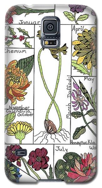 Twelve Month Flower Box Galaxy S5 Case