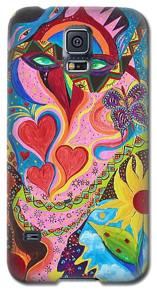 Hearts And Flowers Galaxy S5 Case by Marina Petro