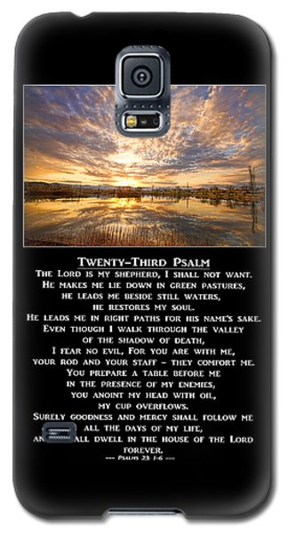 Twenty-third Psalm Prayer Galaxy S5 Case by James BO  Insogna