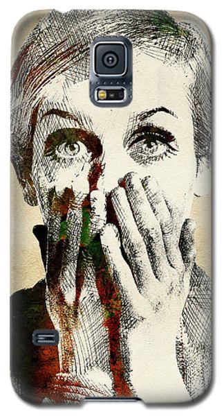 Twiggy Surprised Galaxy S5 Case by Mihaela Pater