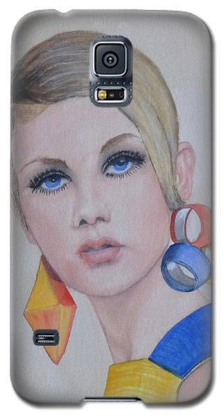 Twiggy The 60's Fashion Icon Galaxy S5 Case