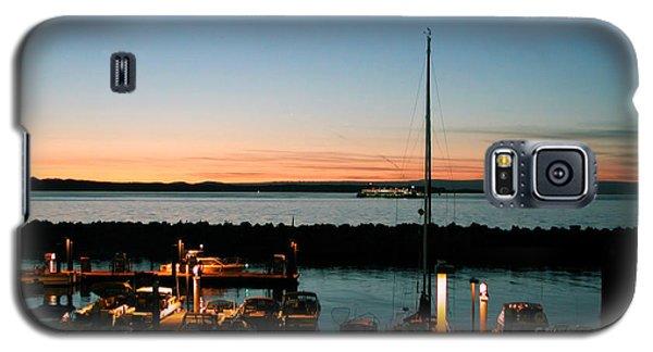 Twilight At Edmonds Marina Galaxy S5 Case