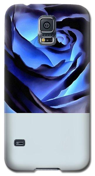 Twilight Blue Rose  Galaxy S5 Case