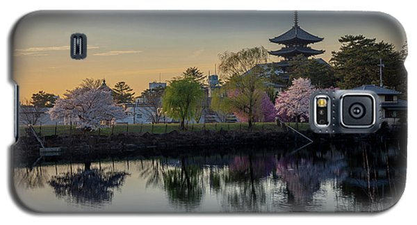 Galaxy S5 Case featuring the photograph Twilight Temple by Rikk Flohr