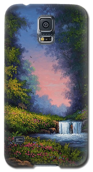 Galaxy S5 Case featuring the painting Twilight Whisper by Kyle Wood