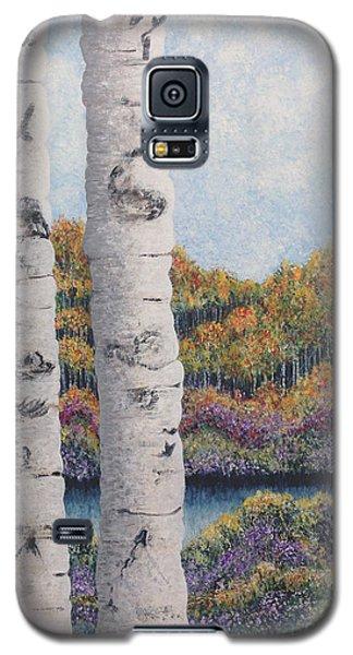 Twin Aspens Galaxy S5 Case by Holly Carmichael