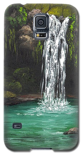 Galaxy S5 Case featuring the painting Twin Falls 2 by Darice Machel McGuire