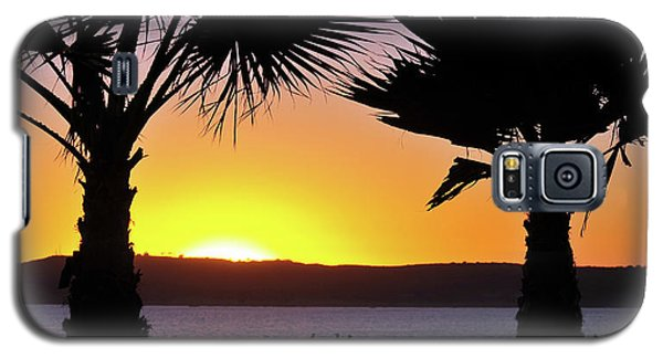 Twin Palms At Sunset Galaxy S5 Case