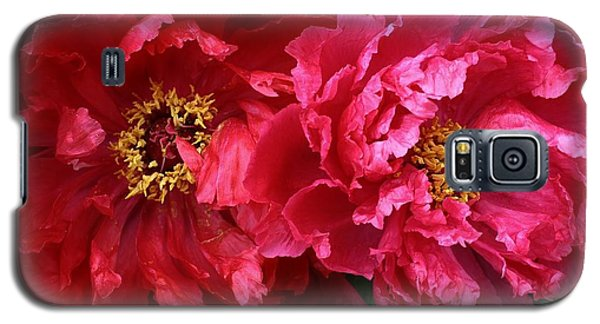 Galaxy S5 Case featuring the photograph Twin Peonies by Bruce Bley