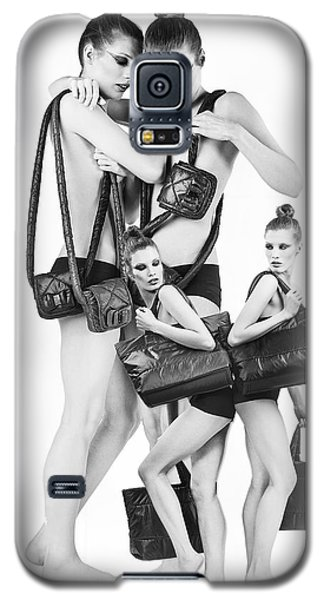 Galaxy S5 Case featuring the digital art Twins Model Agency by ISAW Company
